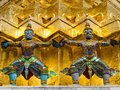 Thai Giant stucco in the Grand Palace Stock Images