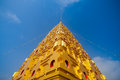 Thai golden bodh gaya in sangkhlaburi thailand Royalty Free Stock Photos