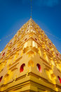 Thai golden bodh gaya in sangkhlaburi thailand Royalty Free Stock Photography