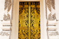 Thai golden painting door Stock Photography