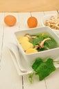 Thai gord soup on white dish Stock Photography