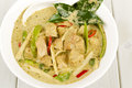 Thai green chicken curry kaeng khiao wan kai Stock Photography