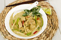 Thai green chicken curry kaeng khiao wan kai Royalty Free Stock Images