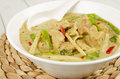 Thai green chicken curry kaeng khiao wan kai Stock Photo