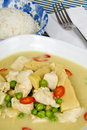 Thai Green Curry Chicken Stock Photography