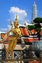 Thai half bird half woman a myth character statue in the temple of the emerald buddha bangkok thailand Royalty Free Stock Photos