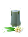 Thai herbal drinks lemon grass wate and pandan on white background Stock Images
