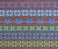 Thai hill tribe fabric with colorful embroidery Royalty Free Stock Photography