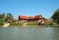 Thai home at riverside of river koh lan Stock Photos