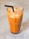 Thai Ice Tea Royalty Free Stock Photo