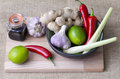 Thai ingredients fresh used to flavor food Stock Photo