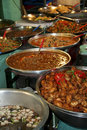 Thai kitchen spicy food buffet Royalty Free Stock Images