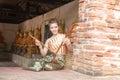 Photo : Thai lady in vintage original thailand attire beach  up