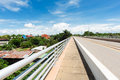 Thai lao friendship bridge street and border over the mekong river Stock Photography