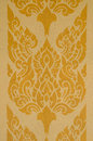 Thai line art vintage traditional Royalty Free Stock Photography