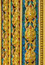 Thai line designs this are on buddhism temple wall Stock Photo