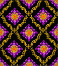 Thai lotus pattern modern sytle Stock Photo