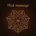 Thai massage background with golden floral mandala