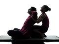 Thai massage silhouette Stock Image
