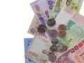 Thai money scatter Royalty Free Stock Photos