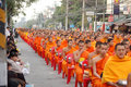 Thai monks Royalty Free Stock Photo