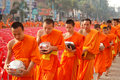 Thai monks Stock Photo