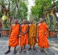 Thai Monks Royalty Free Stock Photo