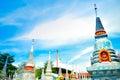 Thai mortuary urm on blue sky Royalty Free Stock Photo