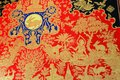 Thai mural the image of the beautiful in temple Royalty Free Stock Photography