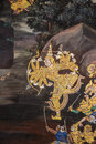 Thai Mural Painting Stock Photos