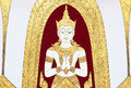 Thai mural painting on the wall wat pho bangkok thailand generality in art decorated in buddhist church etc no restrict Stock Image