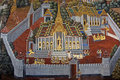 Thai Mural Painting on the wall, Wat Phra Kaew Stock Image