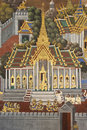 Thai Mural Painting on the wall, Wat Phra Kaew Royalty Free Stock Photos