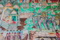 Thai mural in the temple at chaing khan district loei province thailand Royalty Free Stock Image
