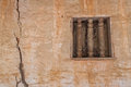 Thai native style window in in an old temple of thailand Royalty Free Stock Image