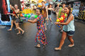 Thai new year songkran revellers celebrate the on khao san road on april in bangkok thailand the or is celebrated Royalty Free Stock Photo