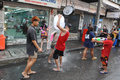 Thai new year songkran revellers celebrate the near khao san road on april in bangkok thailand the or is celebrated Royalty Free Stock Photography