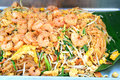 Thai noodle yummy padthai best food in thailand with shrimp Stock Image