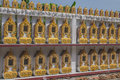 Thai ossuary branch of style on the church wall Stock Images