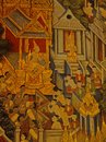 Thai painting is the traditional and cultural of thailand Royalty Free Stock Images