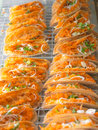 Thai pancake kind of sweetmeat Royalty Free Stock Image