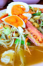 Thai Papaya Salad. (somtam) Royalty Free Stock Photography
