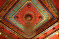 Thai pattern on the ceiling in templ Royalty Free Stock Image