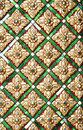 Thai pattern floral inside temple Stock Photography