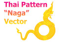 Thai pattern naga details vector