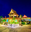 Thai pavilion in the evening Royalty Free Stock Photography