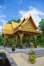 Thai pavilion sala a beautiful or in madison wisconsin sent as a gift from thailand Stock Photo