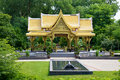 Thai pavilion sala gardens a beautiful or in madison wisconsin sent as a gift from thailand Royalty Free Stock Photography