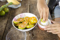 Thai people made orange juice Royalty Free Stock Photo
