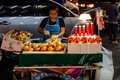 Thai people sell food by the road bangkok december on dec in bangkok thailand Stock Photo